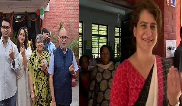 , Delhi LG, Priyanka Gandhi, Ram Madhav cast their votes