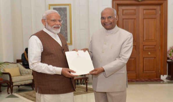 Prez dissolves 16th Lok Sabha, NaMo re-elected National Democratic Alliance chief, INC heads roll