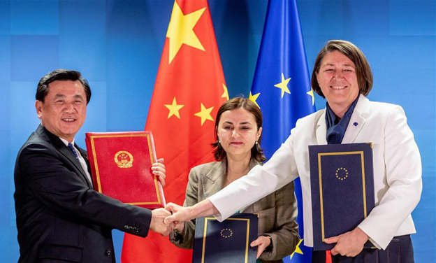 China, EU sign milestone agreements on civil aviation cooperation