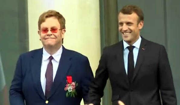 Elton John awarded France's highest civilian award