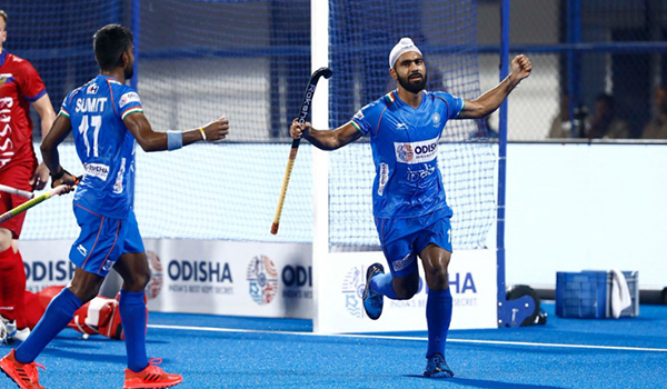 India beat Russia in their first game of FIH Men's Series Finals