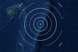 Magnitude7.5earthquake registered