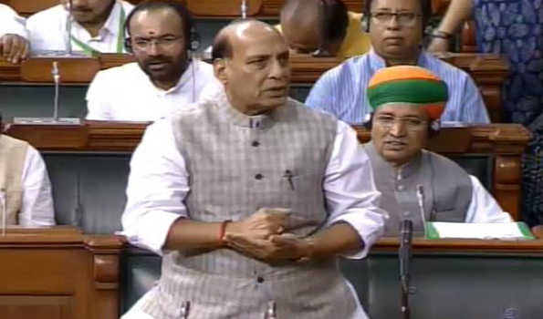 Rajnath counters Rahul, says Farmer problems not recent