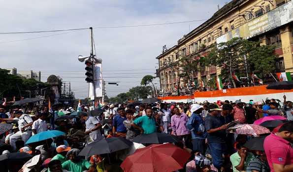 Mamata takes potshot at centre through 'Shahid Dibas' rally