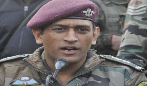 Indian cricket star Mahendra Singh Dhoni joins Army troops in south Kashmir