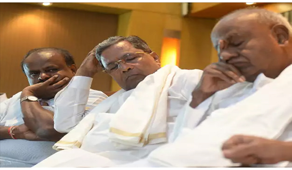 Count down begins for 13 month old Congress-JDS Coalition Government headed by H D Kumaraswamy in Karnataka