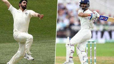 Bumrah, Rahane break into top 10 of ICC Test Rankings