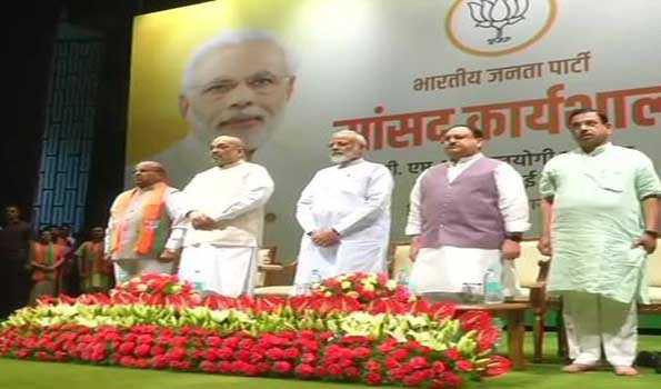 BJP lawmakers in 'yeh shaam mastani madhosh kiye jaa' spirit at training prog