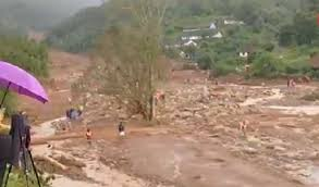 Five NDRF personnel rescued from being washed away in flood water