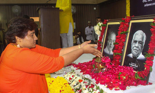 Pragya stirs up hornets' nest again, BJP distances from her view point