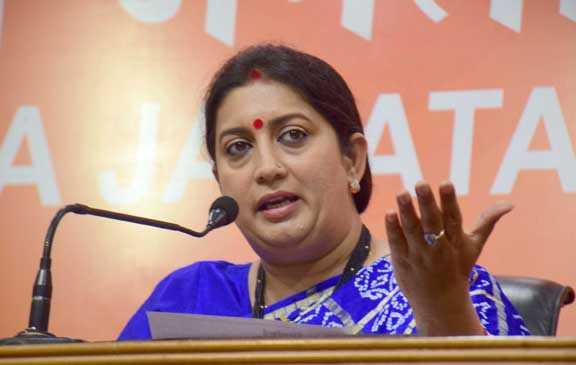 BJP to pitch Smriti Irani for max rallies in Delhi