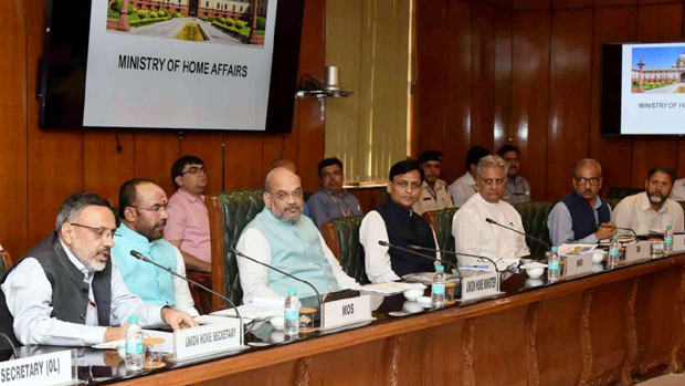 Shah chairs high-level review meeting on Kashmir