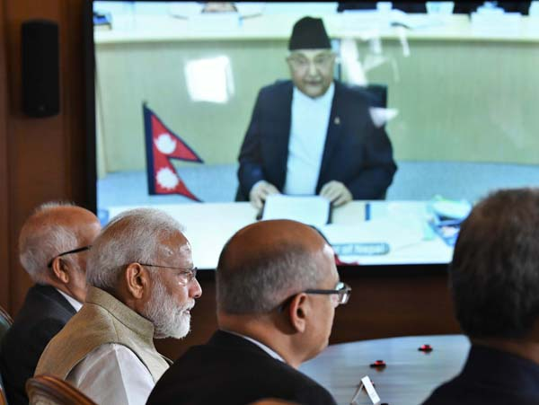 Prime Minister modi jointly inaugurated the South Asia's first cross-border petroleum products pipeline from Motihari in India to Amlekhgunj in Nepal, through video conference from New Delhi on Tuesday