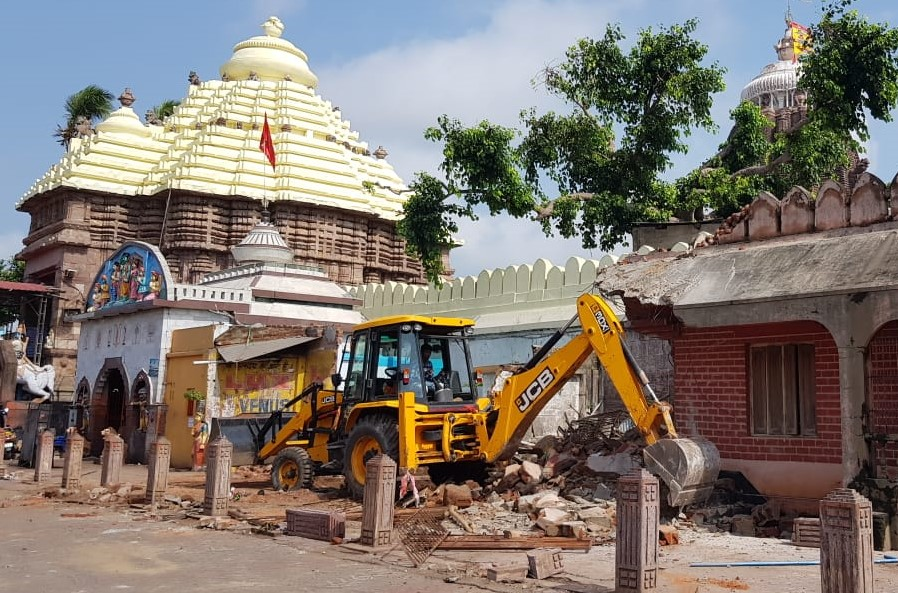 Heritage lost ! safety & security of temple is paramount,  but what plans afoot to utilize the space created, people must know