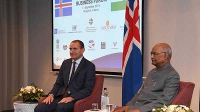 President Ram Nath Kovind participating the India-Iceland business forum in Iceland