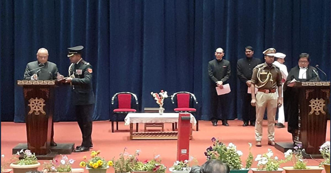 Mathur takes oath as first Lt Governor of Ladakh