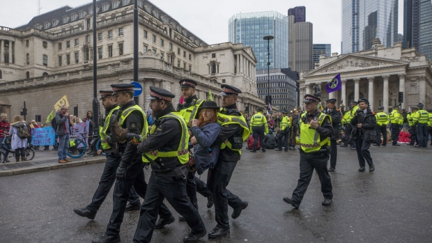 Around 1,500 activists arrested in London in unsanctioned climate protest - Police