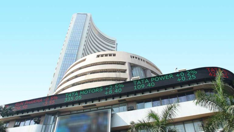 Sensex marginally high, Nifty above 12,100
