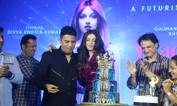 "Mumbai: Actor-director Divya Khosla Kumar celebrates her birthday with husband and T-series MD Bhushan Kumar during a party organised to celebrate the success of her song ""Yaad Piya Ki Aane Lagi"" in Mumbai on Nov 20, 2019. (Photo: IANS)"