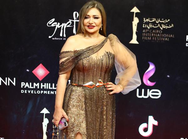 CAIRO,NOV 21 (Xinhua) -- Egyptian actress Laila Eloui attends Cairo International Film Festival in Cairo, Egypt, on Nov. 20, 2019. The 41st edition of Cairo International Film Festival (CIFF) kicked off on Wednesday evening in a festive red carpet ceremony at Egypt's Cairo Opera House, gathering movie stars and filmmakers from different parts of the world. Xinhua/UNI PHOTO-1F