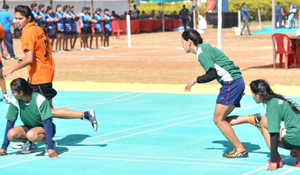Bemetara: Players in action during a match between Maharashtra and Chandigarh in Women's category on Day 3 of the 53rd Senior National Kho Kho Championships, in Chhattisgarh's Bemetara on Dec 28, 2019. (Photo: IANS)