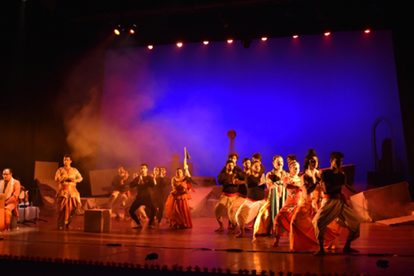 New Delhi: Artistes perform during Bharatendu Natya Utsav at Kamani Auditorium in New Delhi on Dec 10, 2019. (Photo: IANS)
