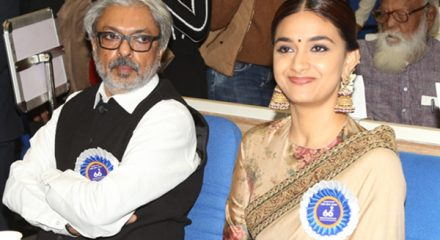 New Delhi: Filmmaker Sanjay Leela Bhansali and actress Keerthy Suresh during 66th National Film Awards in New Delhi on Dec 23, 2019. (Photo: Amlan Paliwal/IANS)