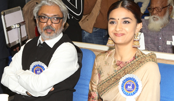 New Delhi: Filmmaker Sanjay Leela Bhansali and actress Keerthy Suresh during 66th National Film Awards in New Delhi on Dec 23, 2019. (Photo: Amlan Paliwal/IANS)