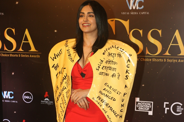 Mumbai: Actress Adah Sharma at the red carpet of Critics' Choice Awards in Mumbai on Dec 11, 2019. (Photo: IANS)