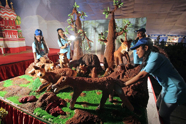 Bengaluru: Visitors during Annual Cake Show 2019 organised at St Josephs School Grounds, in Bengaluru on Dec 11, 2019. (Photo: IANS)