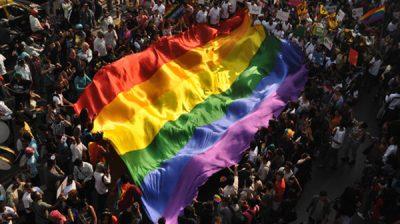 Mumbai: Members of the LGBT (Lesbian, Gay, Bisexual, and Transgender) participate in Queer Pride Parade in Mumbai on Feb. 2, 2019. (Photo: IANS)