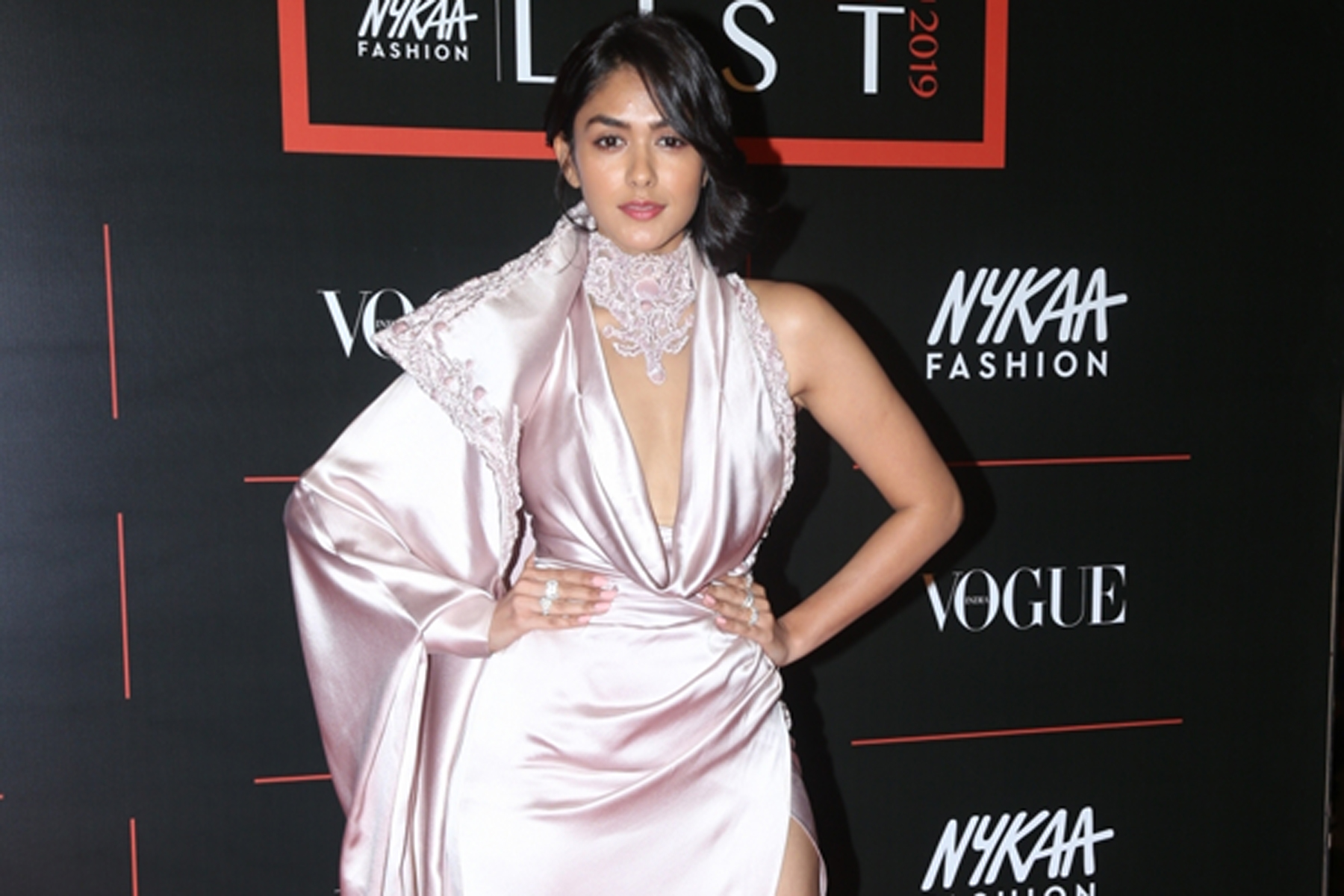 "Mumbai: Actress Mrunal Thakur during the red carpet of ""The Power List 2019"" Awards in Mumbai on Dec 10, 2019. (Photo: IANS)"