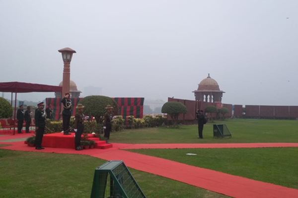 New Delhi: Indian Army's outgoing chief Gen. Bipin Rawat inspects the Guard of Honour near Gate No. 2, South Block Lawns in New Delhi on Dec 31, 2019. After three successful years as Indian Army chief, he will hand over the charge to the General M.M. Naravane to lead the Indian Army. General Rawat has been appointed India's first Chief of the Defence Staff (CDS), the principal military adviser to the Defence Minister and head of the new Department of Military Affairs. (Photo: IANS)