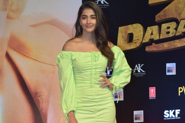 "Mumbai: Actress Saiee Manjrekar at the screening of her upcoming film ""Dabangg 3"" in Mumbai on Dec 19, 2019. (Photo: IANS)"