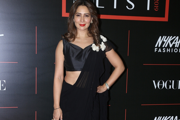 "Mumbai: Actress Kim Sharma during the red carpet of ""The Power List 2019"" Awards in Mumbai on Dec 10, 2019. (Photo: IANS)"