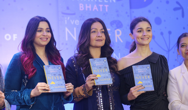 "Mumbai: Author Shaheen Bhatt with her sisters Alia Bhatt and Pooja Bhatt at the launch of her book ""I've Never Been (un)Happier"" in Mumbai on Dec 4, 2019. (Photo: IANS)"