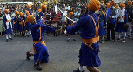Kolkata: Sikh devotees participate in a rally to mark the beginning of the Prakashotsava, the 353rd birth anniversary celebrations of Guru Gobind Singh (the tenth and last Sikh guru) in Kolkata, on Dec 22, 2019. (Photo: Kuntal Chakrabarty/IANS)