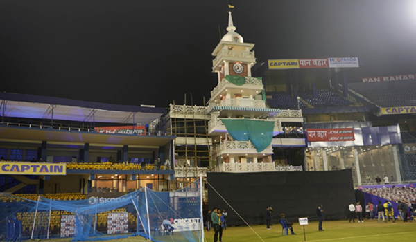 Cuttack: Preparation underway ahead of the 3rd ODI match between India and West Indies at Barabati Stadium in Cuttack, Odisha on Dec 20, 2019. (Photo: Surjeet Yadav/IANS)