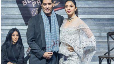 New Delhi: Fashion designer Manish Malhotra and his muse Kiara Lal Advani at the Blenders Pride Fashion Tour 2019 Preview, in New Delhi. (Photo: IANS)