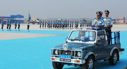 Hyderabad: Air Chief Marshal Rakesh Kumar Singh Bhadauria inspects the Combined Graduation Parade at Air Force Academy, Dundigal, in Hyderabad, on Dec 22, 2019. (Photo: IANS/PIB)