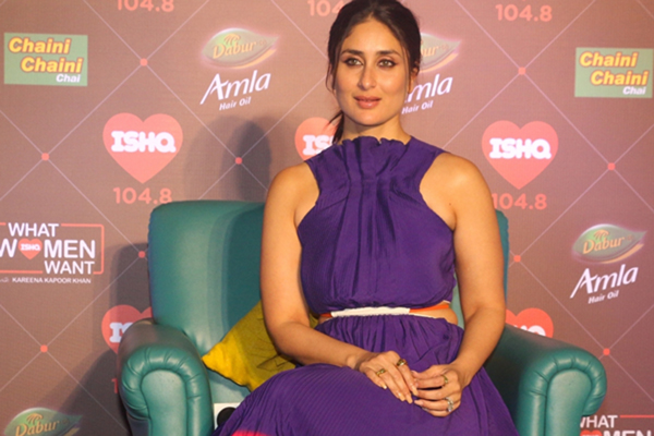 "Mumbai: Actress Kareena Kapoor on the sets of her radio show ""What Women Want"" in Mumbai on Dec 11, 2019. (Photo: IANS)"