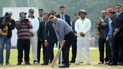 NEW DELHI, DEC 4 (UNI):- Minister of State for Youth Affairs and Sports and Minority Affairs, Kiren Rijiju inaugurates the Cricket Stadium, at KendriyaVidyalaya No. 1, Delhi Cantt., New Delhi on Wednesday.UNI PHOTO-90U