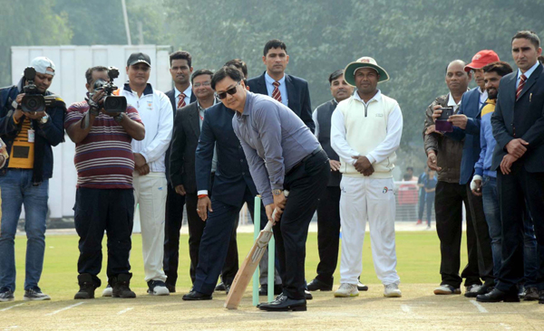 NEW DELHI, DEC 4 (UNI):- Minister of State for Youth Affairs and Sports and Minority Affairs, Kiren Rijiju inaugurates the Cricket Stadium, at KendriyaVidyalaya No. 1, Delhi Cantt., New Delhi on Wednesday.UNI PHOTO-90U
