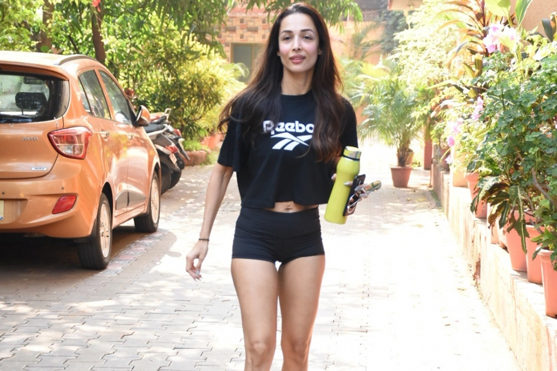Mumbai: Actress Malaika Arora seen at Bandra, in Mumbai on Dec 9, 2019. (Photo: IANS)