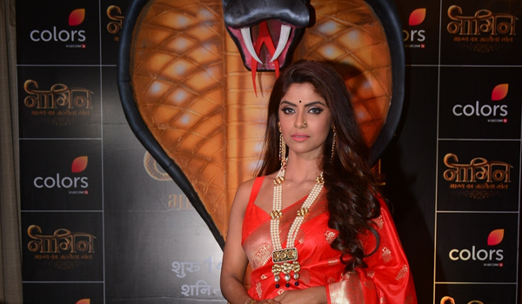 "Mumbai: Actress Sayantani Ghosh at the launch of upcoming television serial ""Naagin Bhagya Ka Zehreela Khel"" in Mumbai, on Dec 9, 2019. (Photo: IANS)"