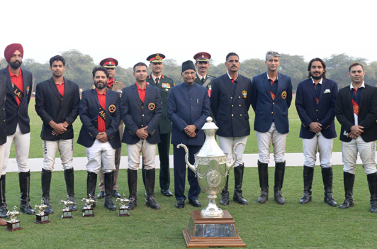 President Ram Nath Kovind, witnessing the President's Polo Cup Exhibition Match