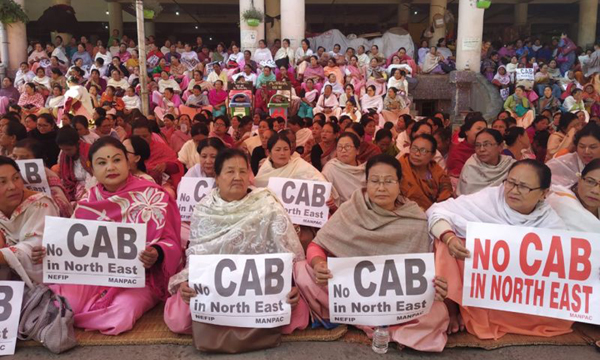 Shutdown in Tripura, demonstrations in Delhi against CAB