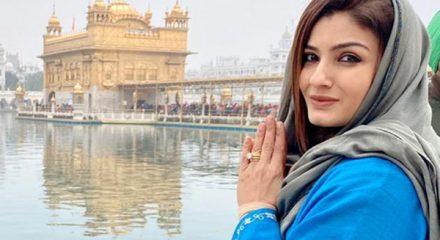 Amritsar: Actress Raveena Tandon visits the Golden temple in Amritsar on Dec 25, 2019. (Photo: IANS)