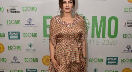 Mumbai: Actress Raveena Tandon during 'ECOMO Eco Footprint 2020' in Mumbai on Dec 18, 2019. (Photo: IANS)