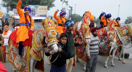 Amritsar: Sikh devotees participate in a religious procession organised to mark the martyrdom of 'Chotte Sahibzade' - the four sons of tenth Sikh Guru, Guru Gobind Singh who attained martyrdom at a very young age, in Amritsar on Dec 23, 2019. (Photo: IANS)